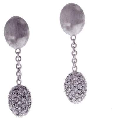 Marco Bicego 18K White Gold Siviglia Diamond Drop Earrings