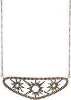 Bavna Moonstone & Champagne Diamond Starburst Station Necklace