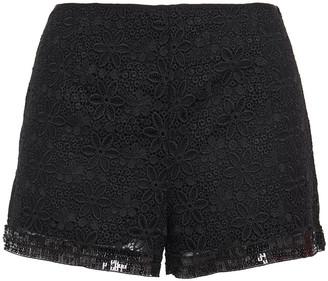 Charo Ruiz Ibiza Sequin-embellished Cotton-blend Guipure Lace Shorts