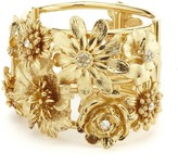Oscar de la Renta Gilded Floral Bracelet
