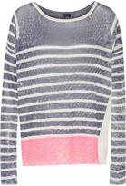 Splendid Striped linen sweater