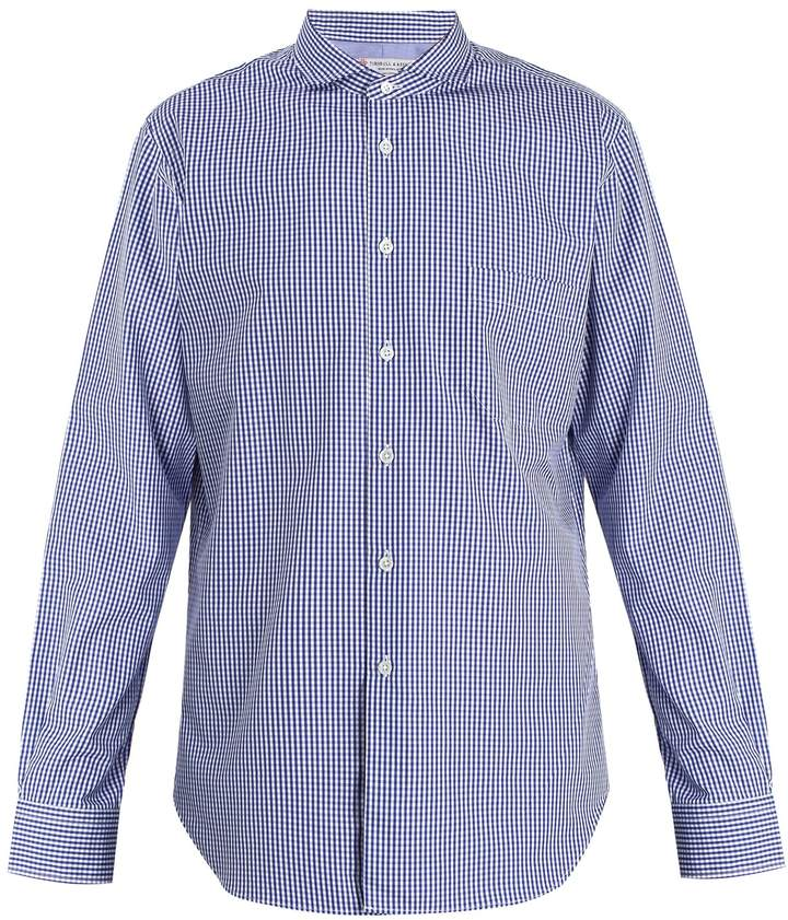 Junya Watanabe X Turnbull & Asser gingham cotton-poplin shirt