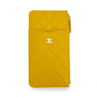 Chanel Timeless/Classique Yellow Leather Purses, wallets & cases