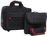 Ecco Leicester Laptop Trolley (Black/Grey) - Bags and Luggage