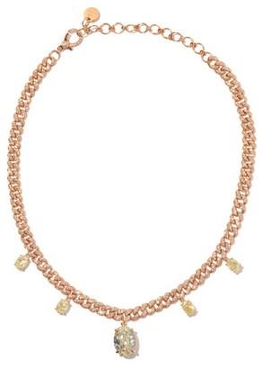 Shay Yellow-diamond & 18kt Rose-gold Choker - Rose Gold