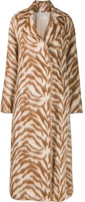 Forte Forte Striped Wool Coat