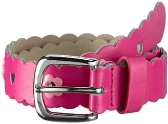 Playshoes Girls' PU-Gürtel Blumen Braces