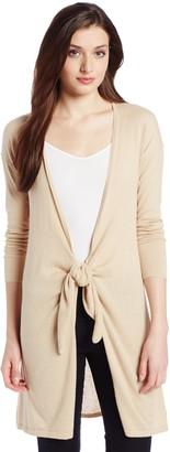 Magaschoni Women's Cotton/Cashmere Long Tie-Front Sweater
