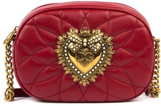 Dolce & Gabbana Devotion Red Quilted Leather Bag