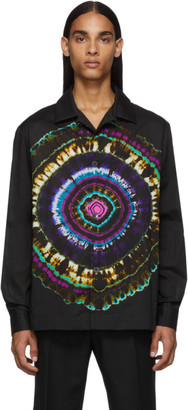 Dries Van Noten Black Tie-Dye Shirt