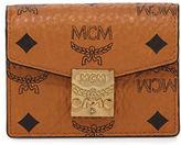 MCM Visetos Mini Accordion Card Wallet
