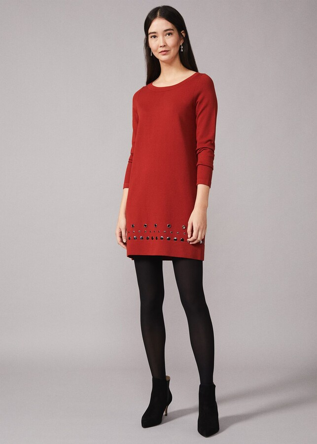 Thumbnail for your product : Phase Eight Selika Stud Hem Dress