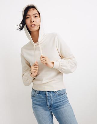 Madewell Bubble-Sleeve Hoodie Crop Sweatshirt