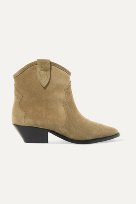 Isabel Marant Dewina Suede Ankle Boots - Beige
