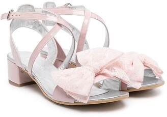 MonnaLisa TEEN oversized front bow sandals