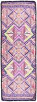 Matthew Williamson Raj Patchwork Pom Pom Scarf in Pink