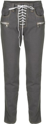 Unravel Project Mid-Rise Straight Leg Jeans