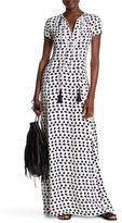 Derek Lam Short Sleeve Printed Gown
