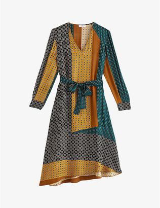 Claudie Pierlot Rostant graphic print silk-crepe dress