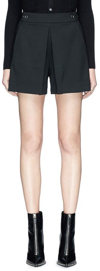 Alexander Wang Hook-and-eye pleated shorts