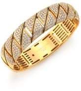 Roberto Coin Appassionata Diamond & 18K Yellow Gold Bangle Bracelet