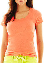 JCPenney jcp Scoopneck Tee - Petite
