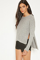 Forever 21 FOREVER 21+ MLM Side-Slit Ribbed Sweater