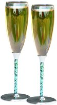 Hortense B. Hewitt Wedding Accessories Champagne Toasting Flutes, Seashell, Set of 2