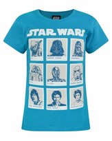 Star Wars Childrens/Girls Official Character Panel T-Shirt