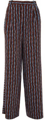 Hofmann Copenhagen Printed Stretch-crepe Wide-leg Pants