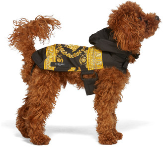 Versace Black Medusa Dog Raincoat