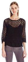 Velvet by Graham & Spencer Women's Mixed Lace Blouse