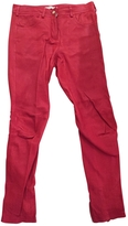 Givenchy Red Leather Trousers