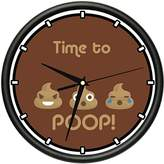 SignMission TIME TO POOP Wall Clock funny crude cute gag gift