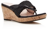 Taryn Rose Kijani Platform Wedge Cork Sandals