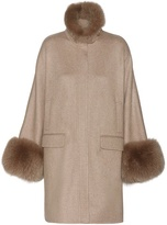 Loro Piana Anouk cashmere and fox fur coat