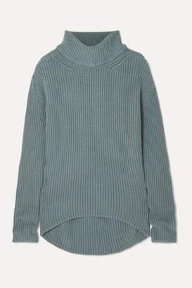 Petar Petrov Oversized Cashmere Turtleneck Sweater - Gray