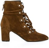 Casadei lace-up ankle boots - women - Leather/Suede - 36