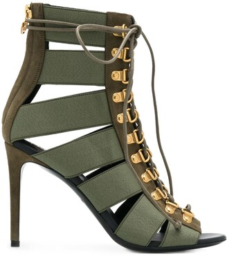 Balmain Lindsay lace-up sandals