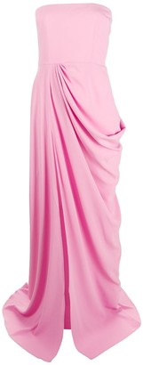 Alex Perry front ruched evening dress