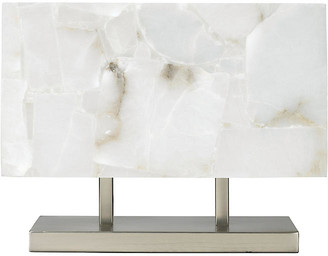 Jamie Young Ghost Horizon Table Lamp - Alabaster/Silver