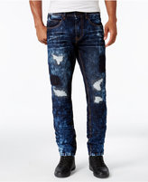 Sean John Men's Destructed Bedford Classic-Straight Jeans