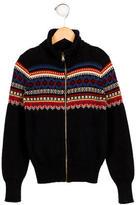 Ralph Lauren Boys' Fairisle Pattern Zip-Up Sweater