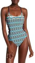 Sperry Lattice Sides One-Piece Swimsuit