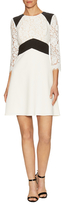 ABS by Allen Schwartz Lace Paneled Fit And Flare Dress