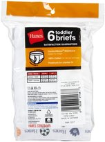 Hanes 6-Pack Red Label Brief - White-2T/3T