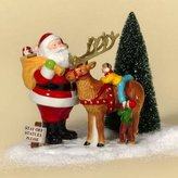 D.E.P.T 56 Accessories Main Street Town Santa Snow Village Limited Reindeer - Ceramic 5.00 IN
