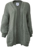 The Knotty Ones Jurgis Cardigan In Moss Green