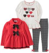 Kids Headquarters 3-Pc. Bow Jacket, T-Shirt & Leggings Set, Baby Girls (0-24 months)