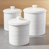 Crate & Barrel Farmhouse Canisters